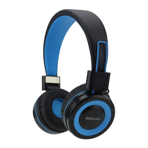 Portronics POR-011 Muffs G Blue Bluetooth On-Ear Foldable Headphones with Mic - Buythevalue.in