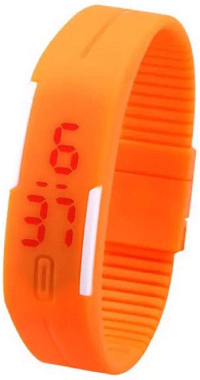 Popmode Orange Unisex Smart Band Watch get best offers deals free and coupons online at buythevalue.in