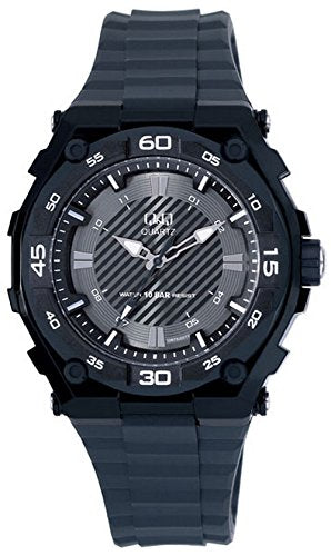 Q&Q Regular Analog Black Dial Men's Watch - GW79J001Y get best offers deals free and coupons online at buythevalue.in
