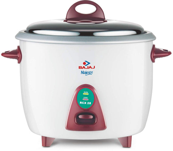 Bajaj Majesty RCX 28 2.8-Litre 1000-Watt Rice Cookerget best offers deals free and coupons online at buythevalue.in