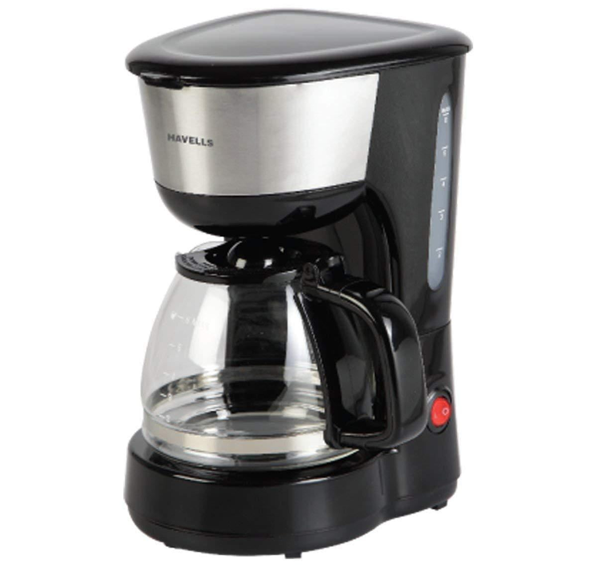 Havells Drip Cafe-N 6 600W Drip Coffee Machine (Black) - Buythevalue.in