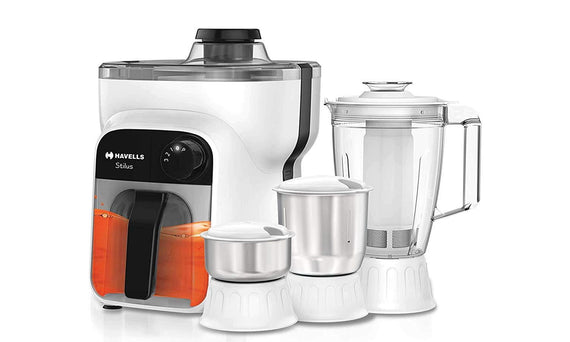 Havells Stilus 4 Jar 500-Watt Juicer Mixer Grinder (whitr/Black) - Buythevalue.in