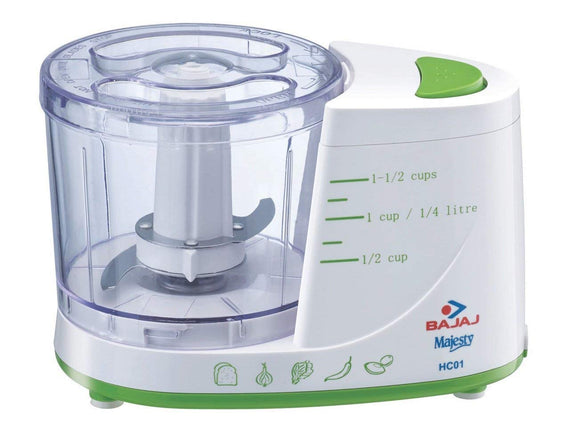Bajaj HC01 135-Watt Horizontal Chopper White/Greenget best offers deals free and coupons online at buythevalue.in
