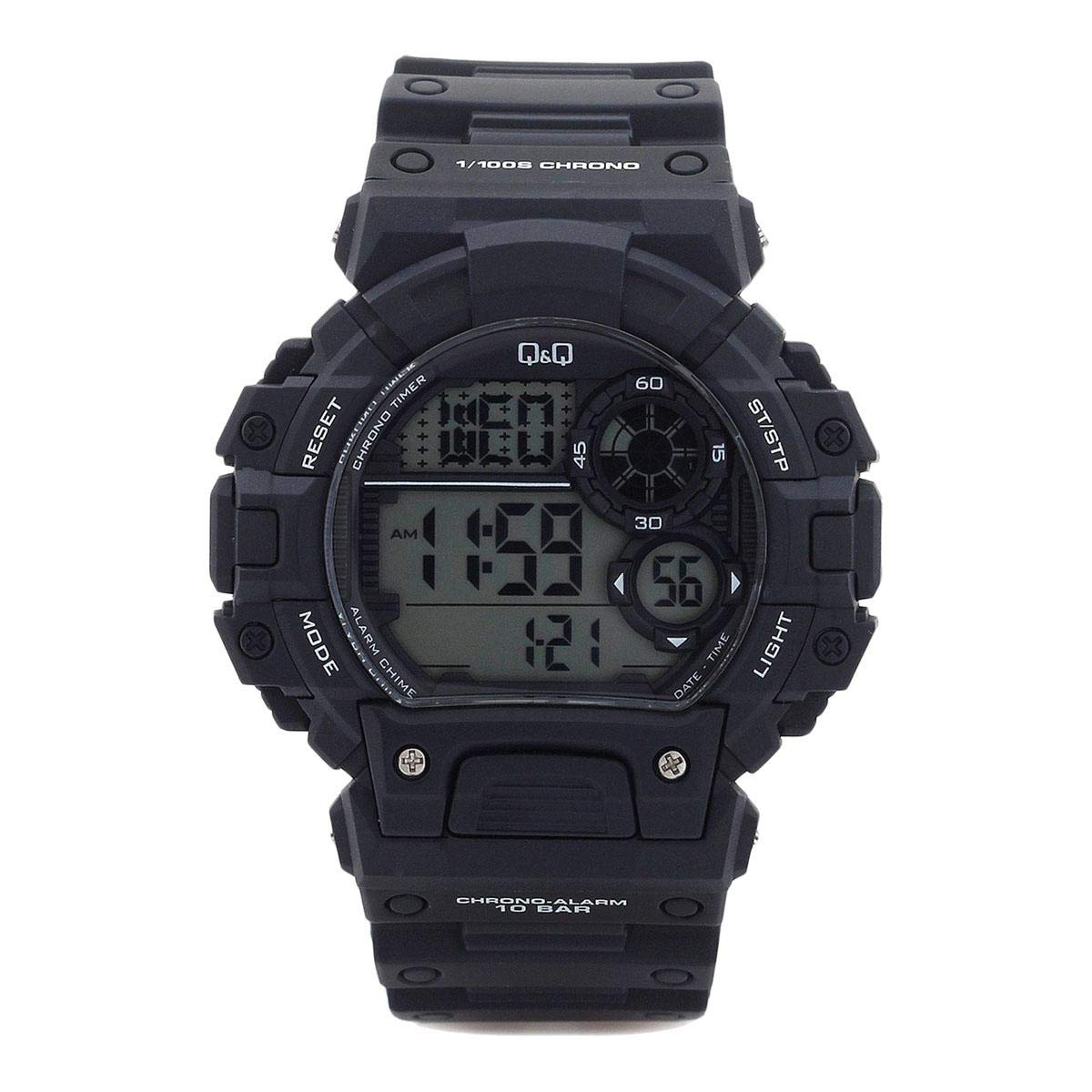 Q&Q Digital Black Dial Men's Watch - M144J002Y get best offers deals free and coupons online at buythevalue.in