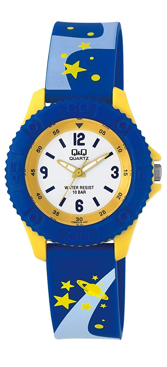 Q&Q Pixie Analog White Dial Children's Watch - VQ96J018Y get best offers deals free and coupons online at buythevalue.in