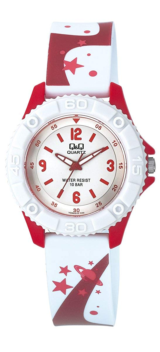 Q&Q Pixie Analog White Dial Children's Watch - VQ96J016Y get best offers deals free and coupons online at buythevalue.in