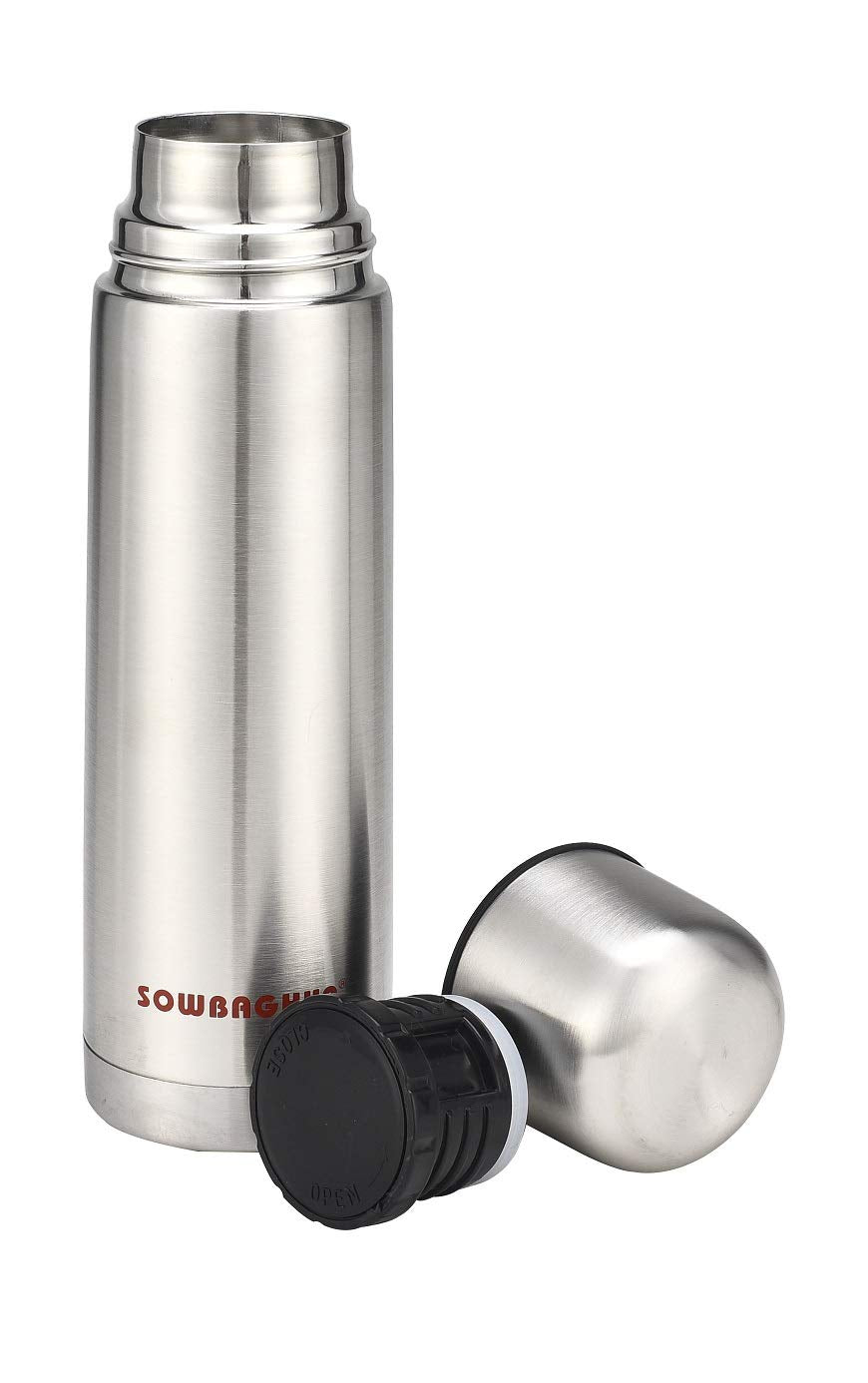 Sowbaghya SSF02 500ml Pure Stainless steel Flask get best offers deals free and coupons online at buythevalue.in