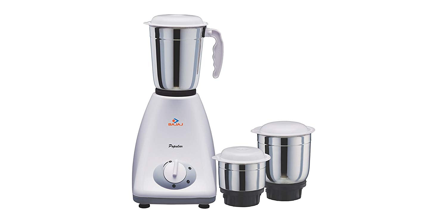 Bajaj Popular 450-Watt Mixer Grinder with 3 Jarsget best offers deals free and coupons online at buythevalue.in