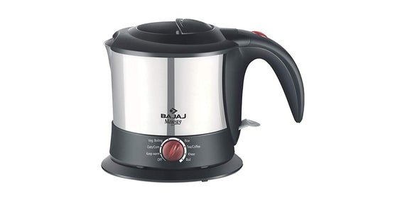 Bajaj Majesty KTX 9 1-Litre Multifunction Stainless Steel Kettleget best offers deals free and coupons online at buythevalue.in