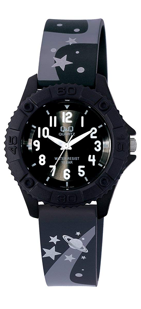Q&Q Pixie Analog Black Dial Children's Watch VQ96J014Y get best offers deals free and coupons online at buythevalue.in
