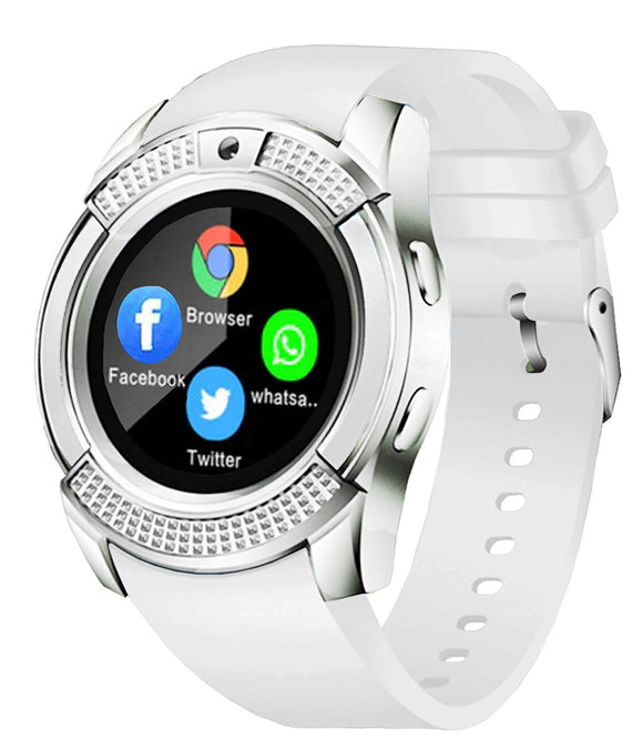 Time UP I-PRO Series Android/iOS Smart Watch (White) get best offers deals free and coupons online at buythevalue.in