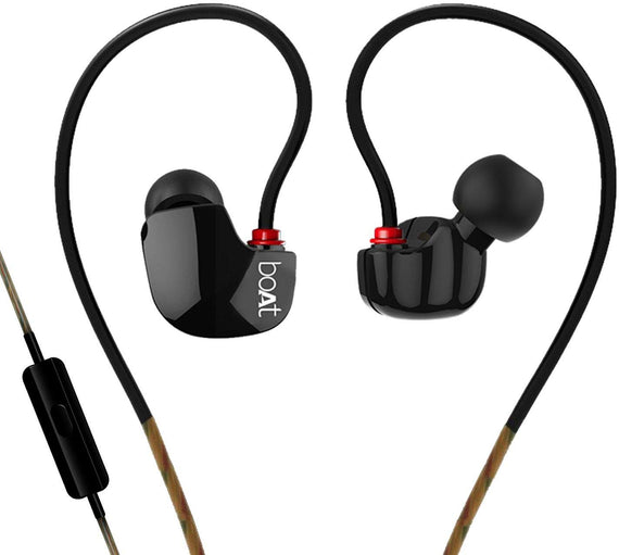 Boat Nirvanaa Uno In-Ear Earphones With Mic Black-Case get best offers deals free and coupons online at buythevalue.in