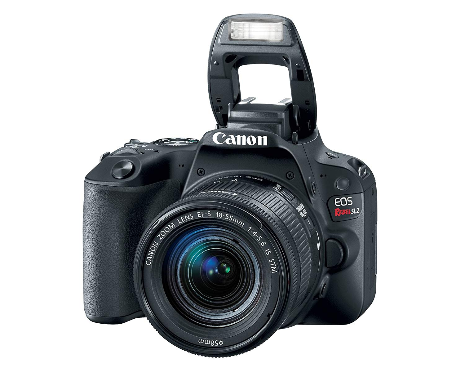 Canon EOS Rebel SL2 EFS 1855mm IS STM Black Digital Camera get best offers deals free and coupons online at buythevalue.in