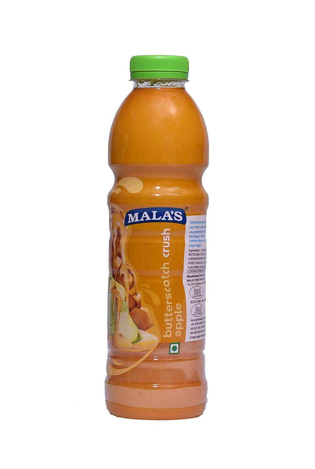Mala's Butter Scotch Crush 1000ml - Buythevalue.in