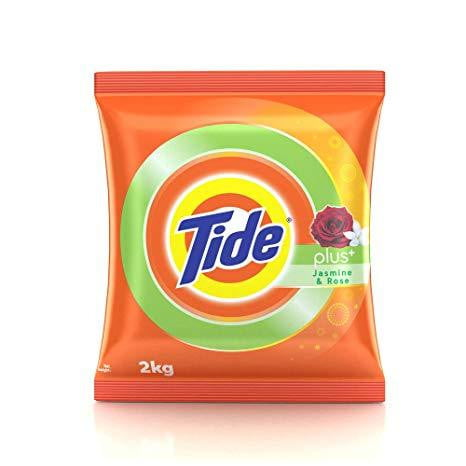 Tide Plus Detergent Washing Powder Extra Power Jasmine & Rose 2kg - Buythevalue.in