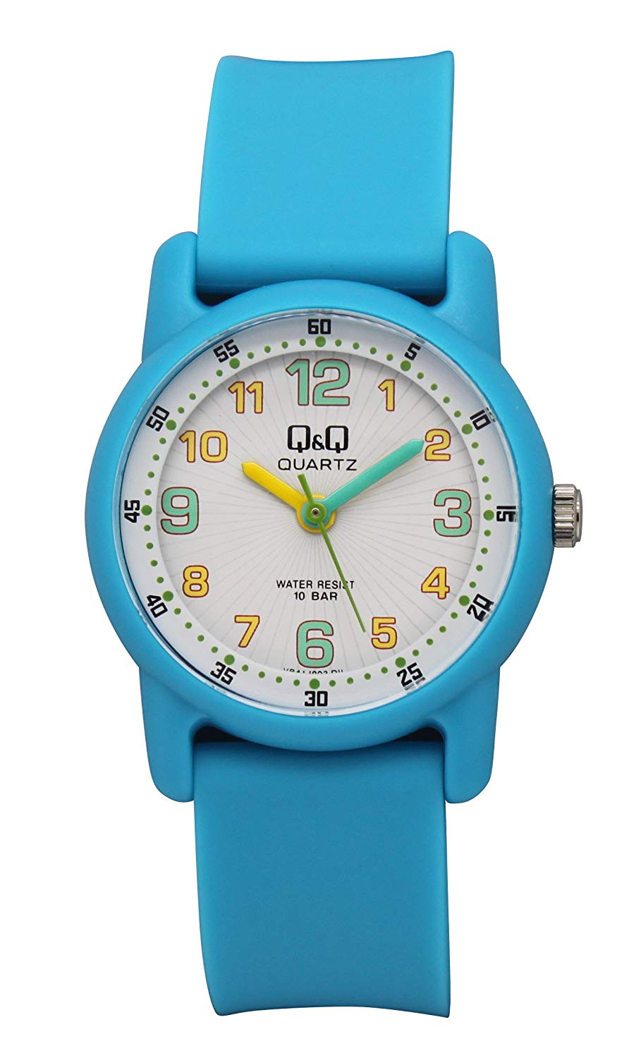Q&Q Regular Analog White Dial Children's Watch - VR41J003Y get best offers deals free and coupons online at buythevalue.in