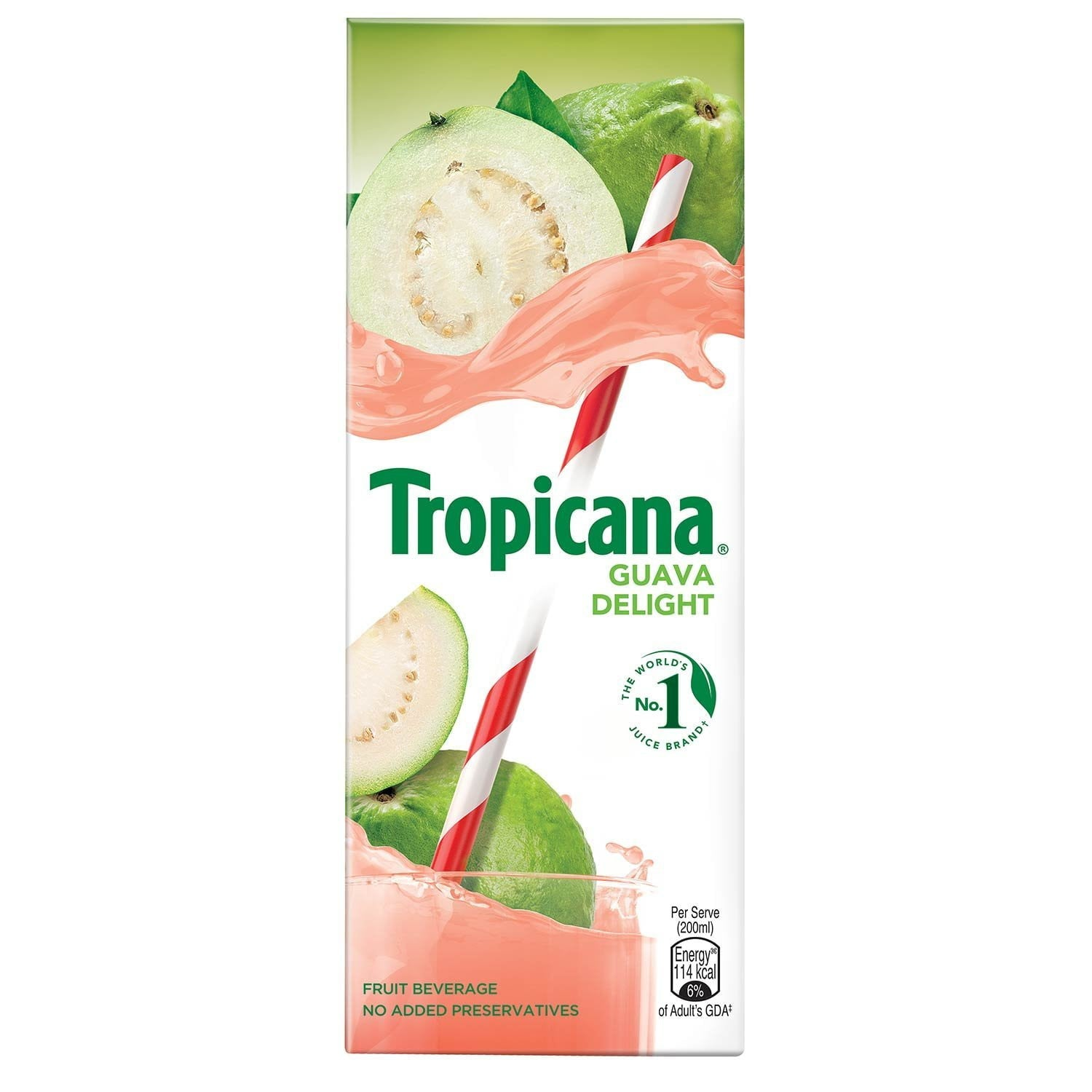 Tropicana Fruit Juice Delight Guava 200 ml - Buythevalue.in