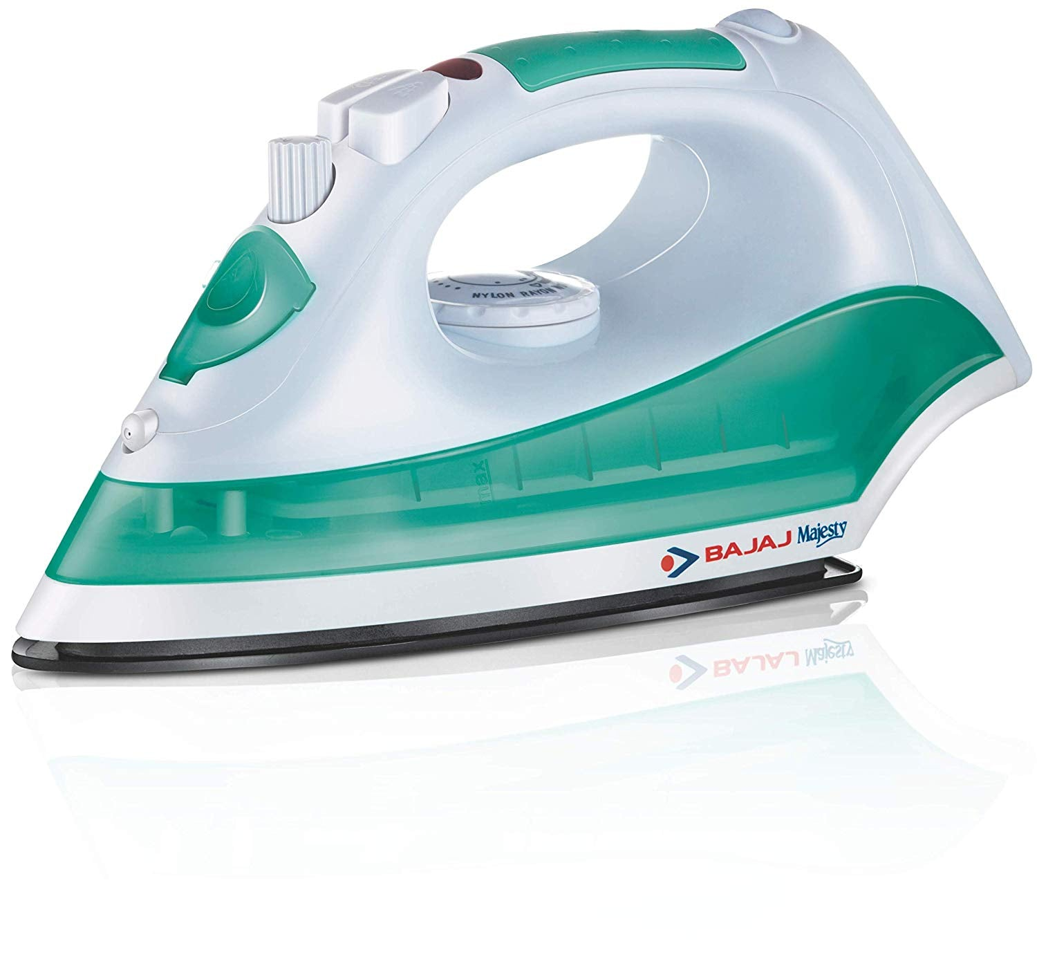 Bajaj Majesty Mx8 1200 Watt Steam Iron Green Whiteget best offers deals free and coupons online at buythevalue.in