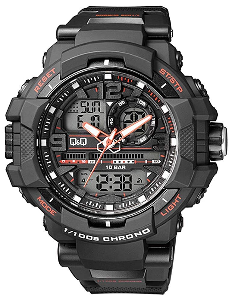 Q&Q Analog-Digital Black Dial Men's Watches - GW86J002Y get best offers deals free and coupons online at buythevalue.in