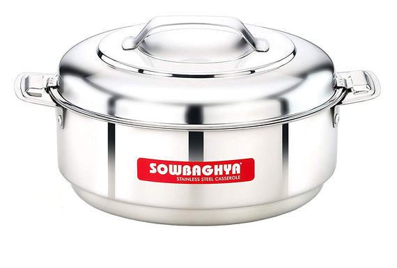 Sowbaghya 1500 ml Stainless Steel Hotpot - SSIC03 get best offers deals free and coupons online at buythevalue.in