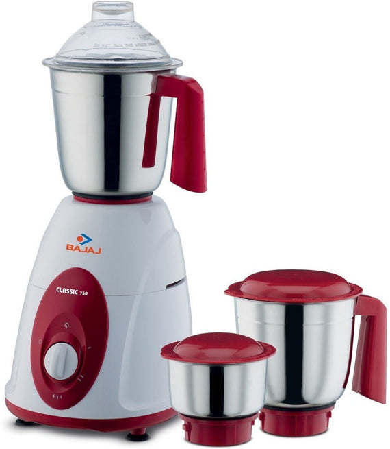 Bajaj Majesty Classic 750-Watt Juicer Mixer Grinder White and Redget best offers deals free and coupons online at buythevalue.in