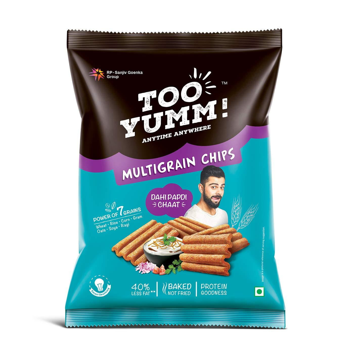 Too Yumm! Multigrain Chips Dahi Papdi Chaat (6x28 g Multipack) - Buythevalue.in