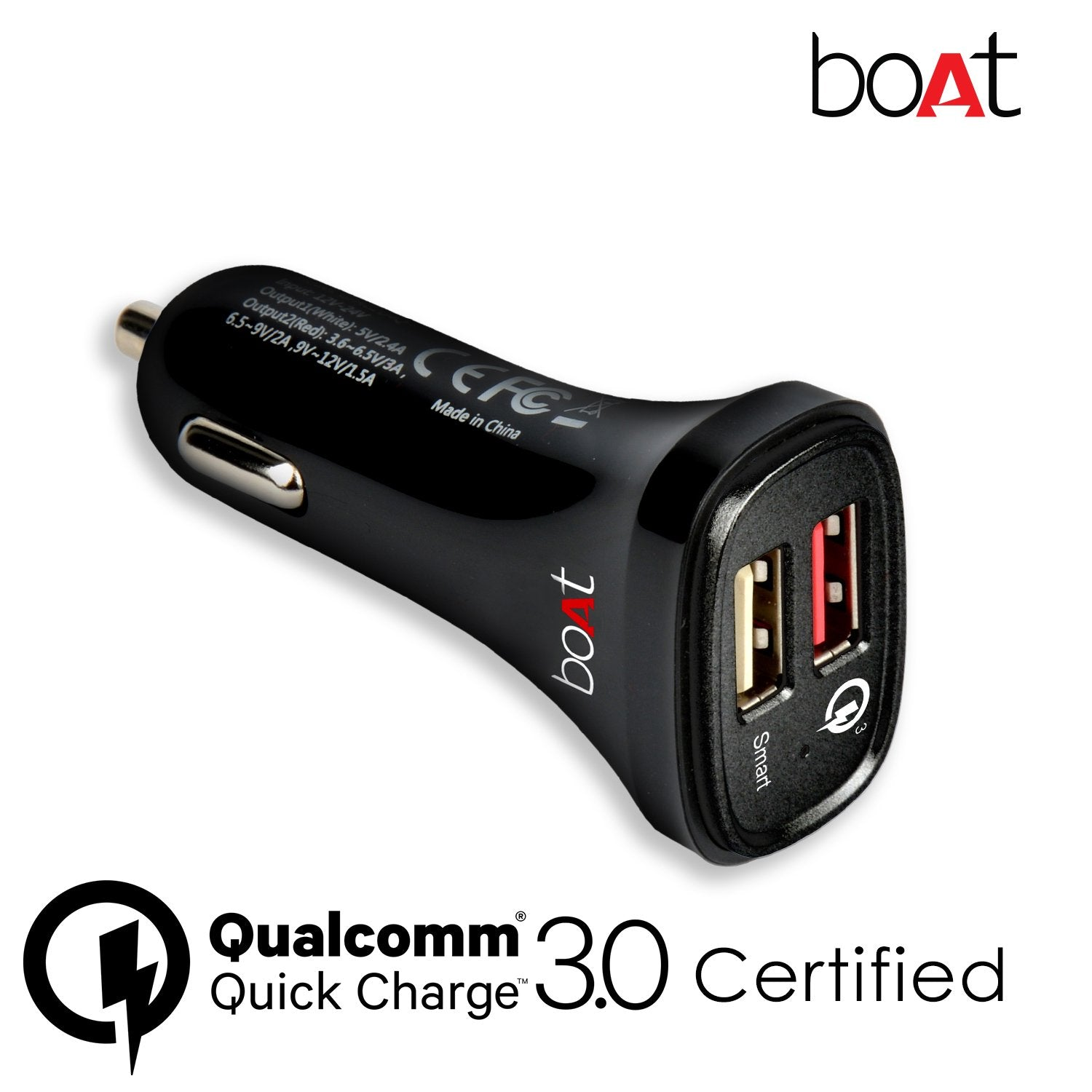 Boat Dual Port Rapid Car Charge With Quick Charge 3.0 get best offers deals free and coupons online at buythevalue.in