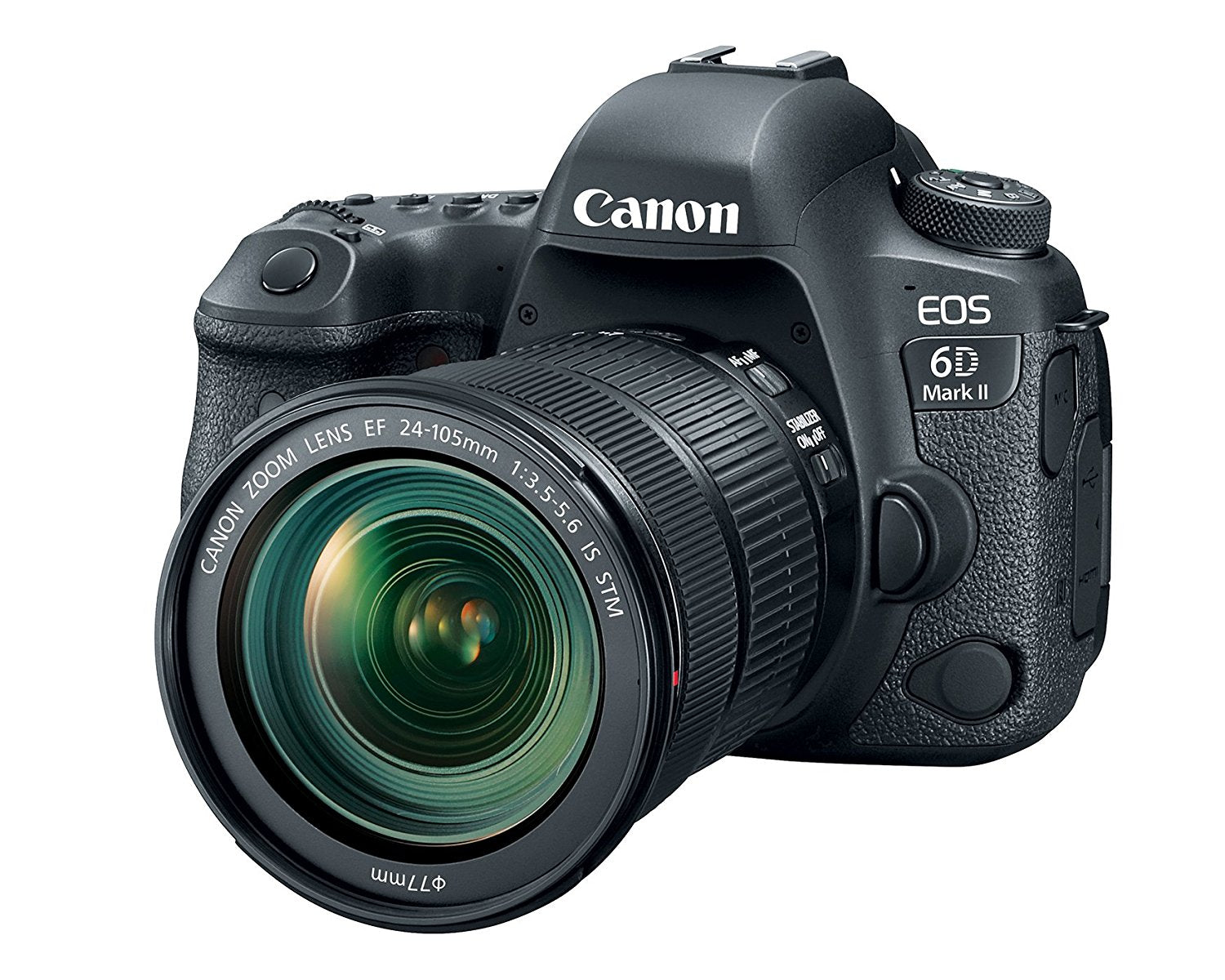 Canon EOS 6D Mark II with EF 24105mm is STM Lens WiFi Enabled Cameras Accessories get best offers deals at buythevalue.in