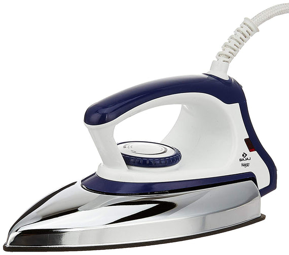 Bajaj Majesty DX11 Dry Iron-Silver, Blue get best offers deals free and coupons online at buythevalue.in