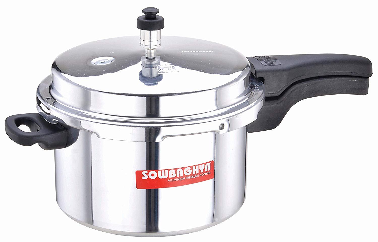 Sowbaghya Elite Aluminium ISI Pressure Cooker (5 litres) get best offers deals free and coupons online at buythevalue.in