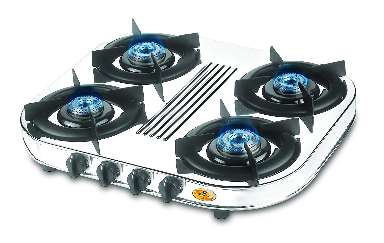 Bajaj Majesty Stainless Steel CX 10 D 4-Burner Cooktop Silver get best offers deals free and coupons online at buythevalue.in