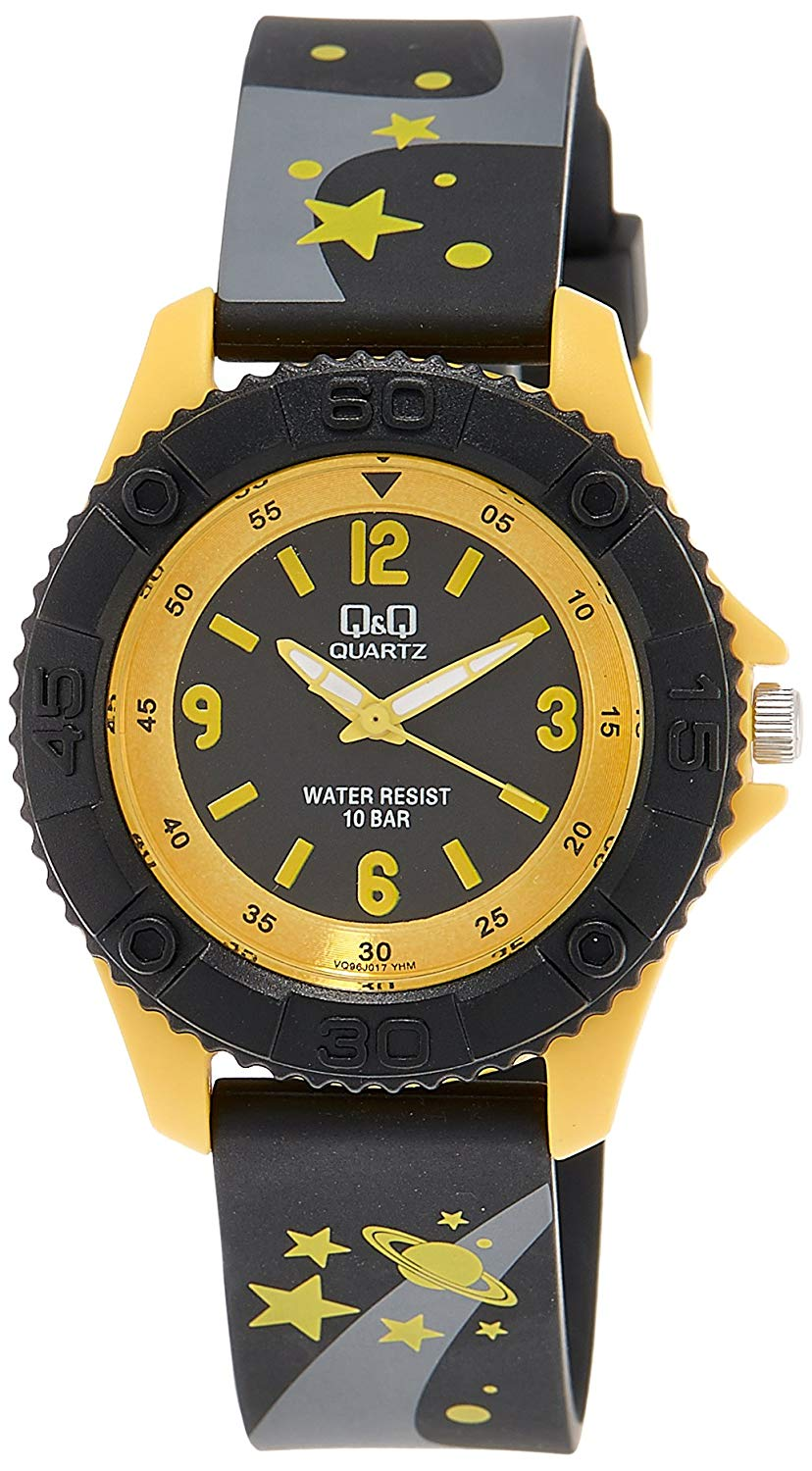 Q&Q Pixie Analog Black Dial Children's Watch - VQ96J017Y get best offers deals free and coupons online at buythevalue.in