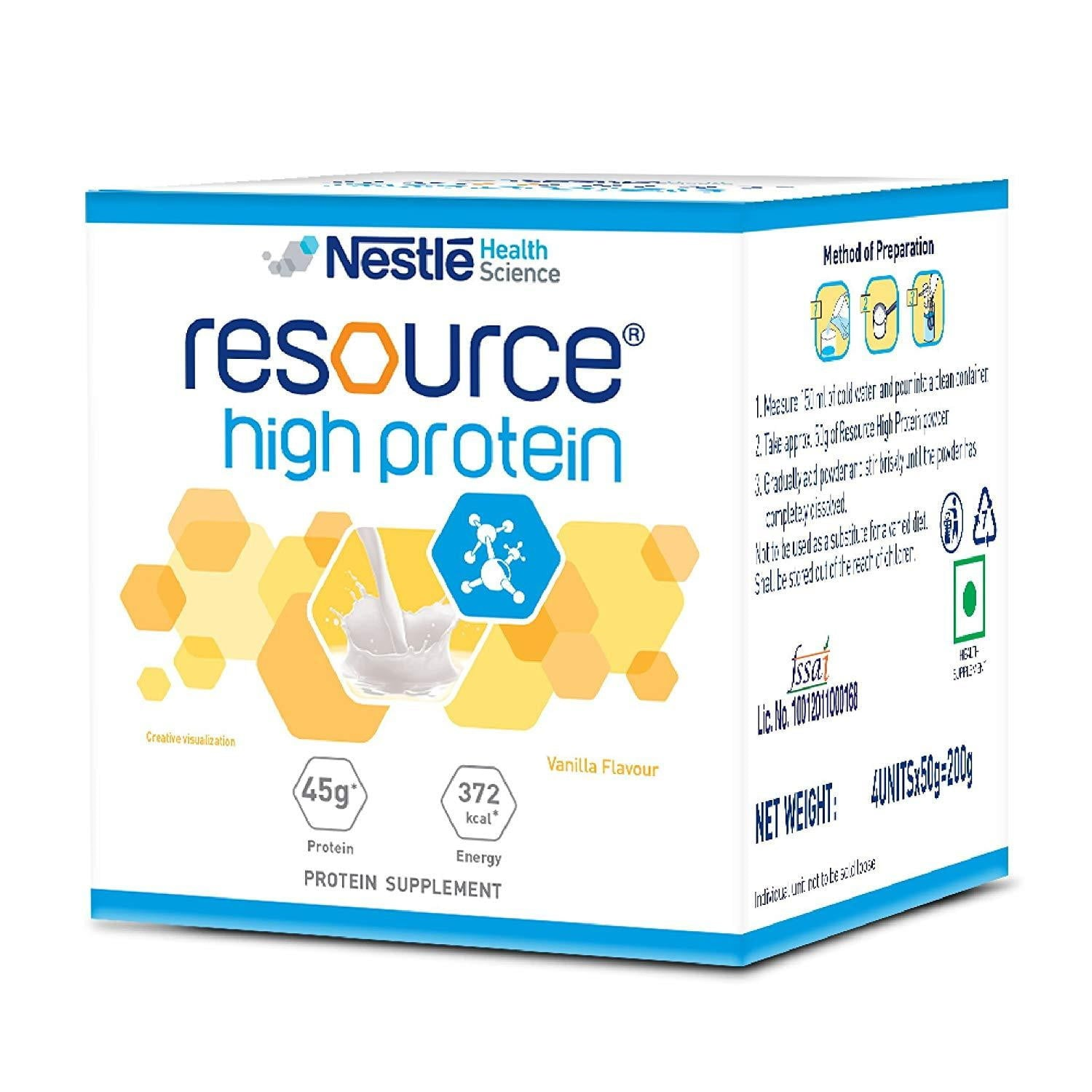 Nestle Resource high protein vannila 200 gm - Buythevalue.in