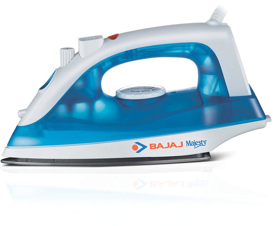 Bajaj Majesty MX 20 1200-Watt Steam Iron Blue and Whiteget best offers deals free and coupons online at buythevalue.in