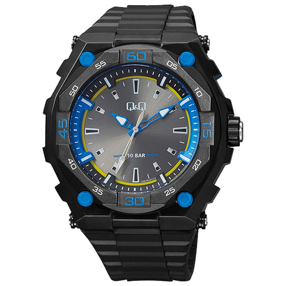 Q&Q Analog Black Dial Men's Watch - GW79J013Y get best offers deals free and coupons online at buythevalue.in