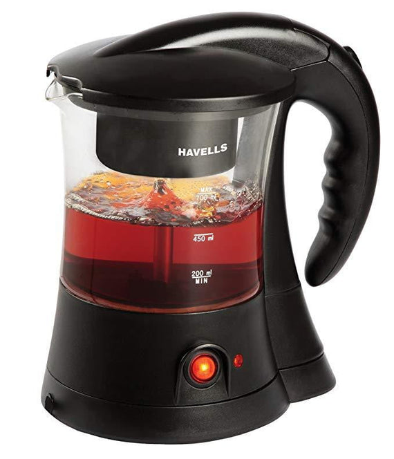 Havells Crystal 600-Watt Stainless Steel Tea and Coffee Maker (Black) - Buythevalue.in