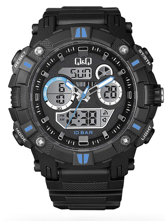 Q&Q Dual Time Analog-Digital Watch For Men - GW88J004Y get best offers deals free and coupons online at buythevalue.in