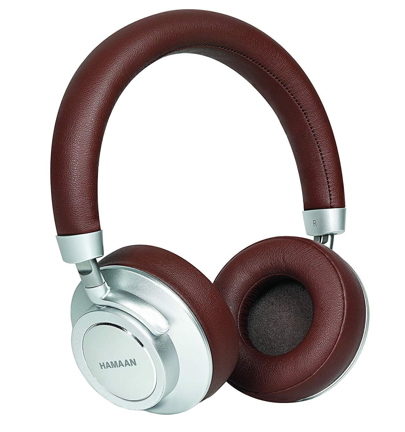 Hamaan H-30 Brown Super Bass Wireless Bluetooth On-Ear Headphones - Buythevalue.in