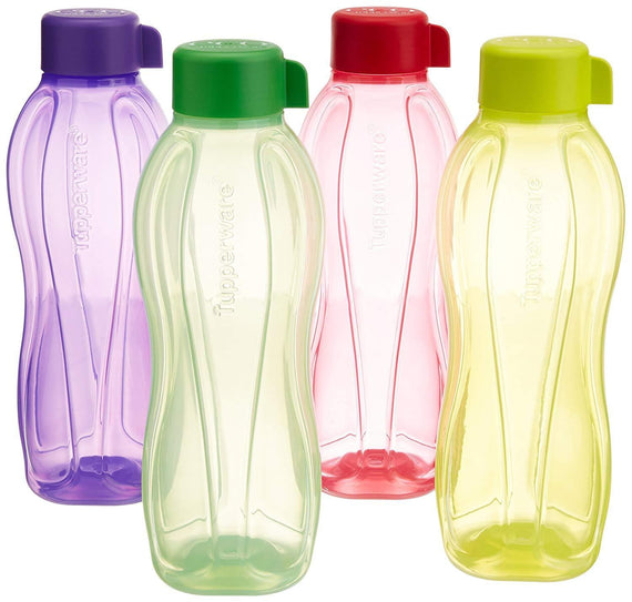 Tupperware Aquasafe Water Bottle Set (1 Litre, Set of 4, Multicolor) - Buythevalue.in
