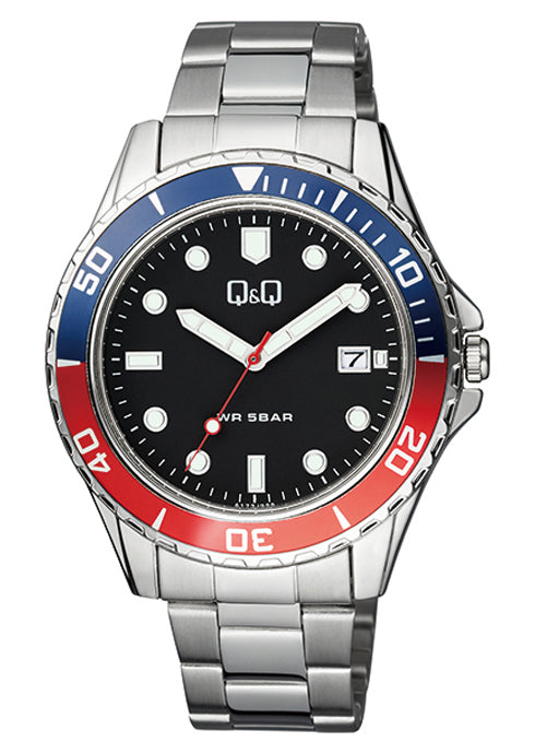 Q&Q Black Dial Men's Watch A172J222Y get best offers deals free and coupons online at buythevalue.in
