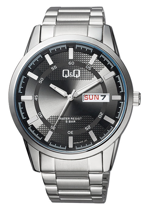 Q&Q Black Dial Men's Watch -A208J202Y get best offers deals free and coupons online at buythevalue.in