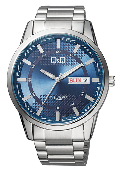 Q&Q Blue Dial Men's Watch -A208J212Y get best offers deals free and coupons online at buythevalue.in