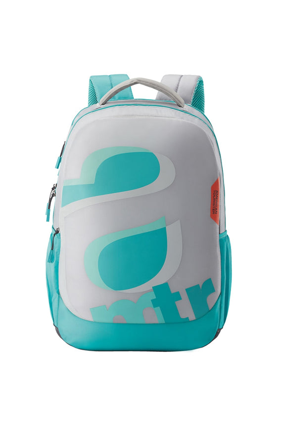 American Tourister Turk 02 Backpack Travel - Light Grey/Mint