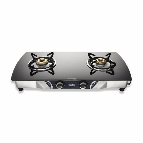 Preethi Bluflame Streak 2Burners Stainless Steel Gas Stove get best offers deals free and coupons online at buythevalue.in