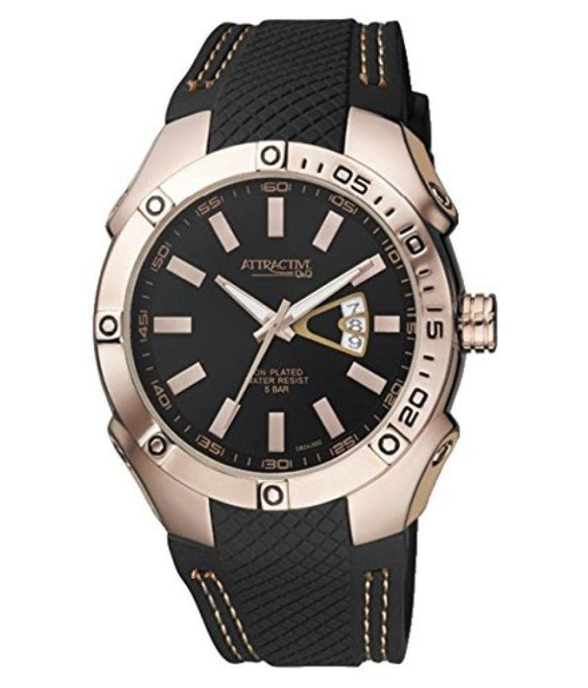 Q&Q DB24J552Y PU Analog Men's Watch get best offers deals free and coupons online at buythevalue.in
