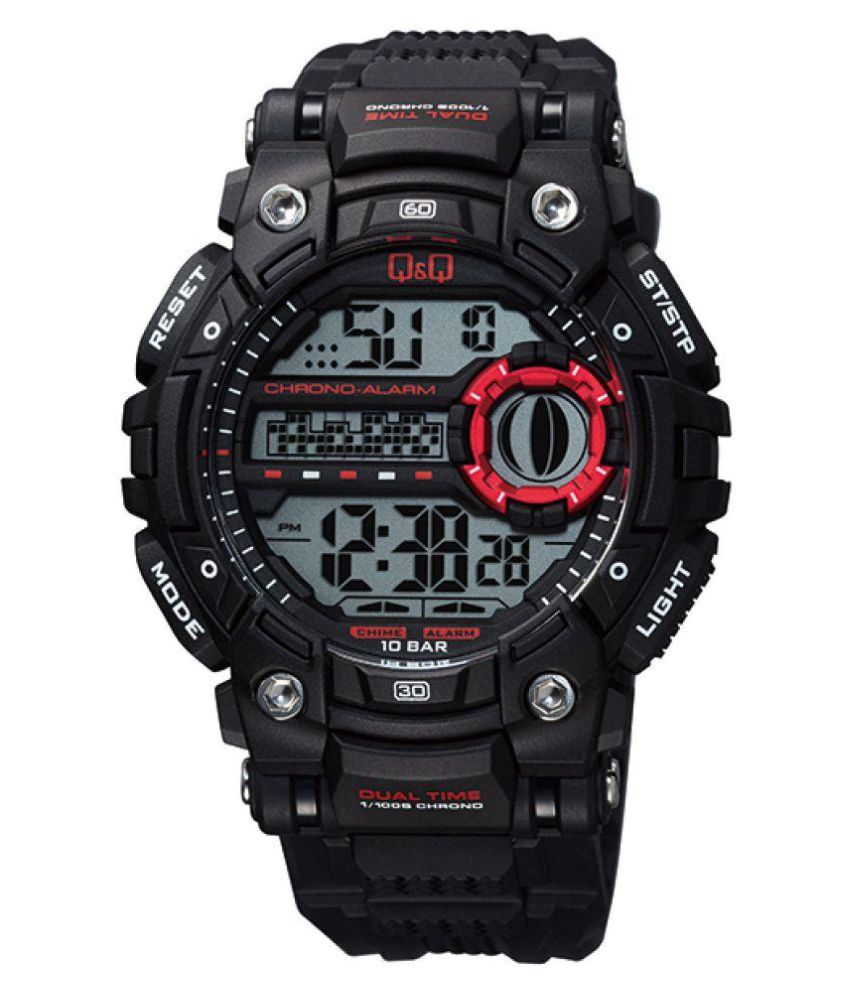 Q&Q Digital Men's Watch -M161J001Y get best offers deals free and coupons online at buythevalue.in