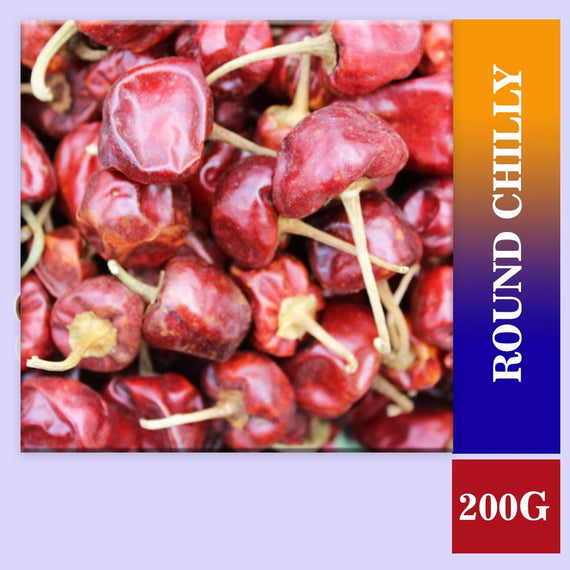 Red Chilly Dry (Round Mirchi) 200 gm - Buythevalue.in