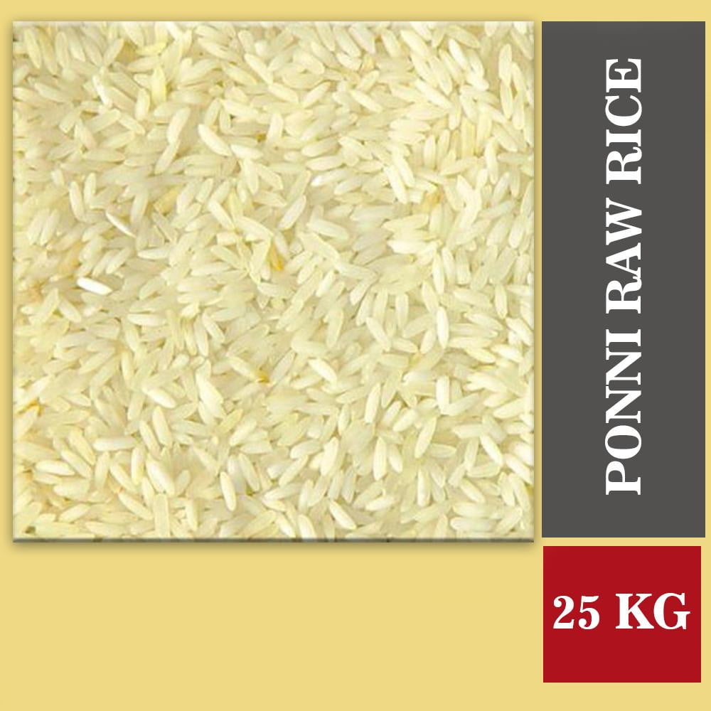 Ponni Raw Rice (Pacharasi) 25 Kg - Buythevalue.in