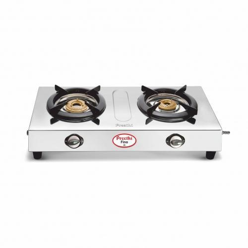 Preethi Fino Two Burner Stainless Steel Gas Stove get best offers deals free and coupons online at buythevalue.in