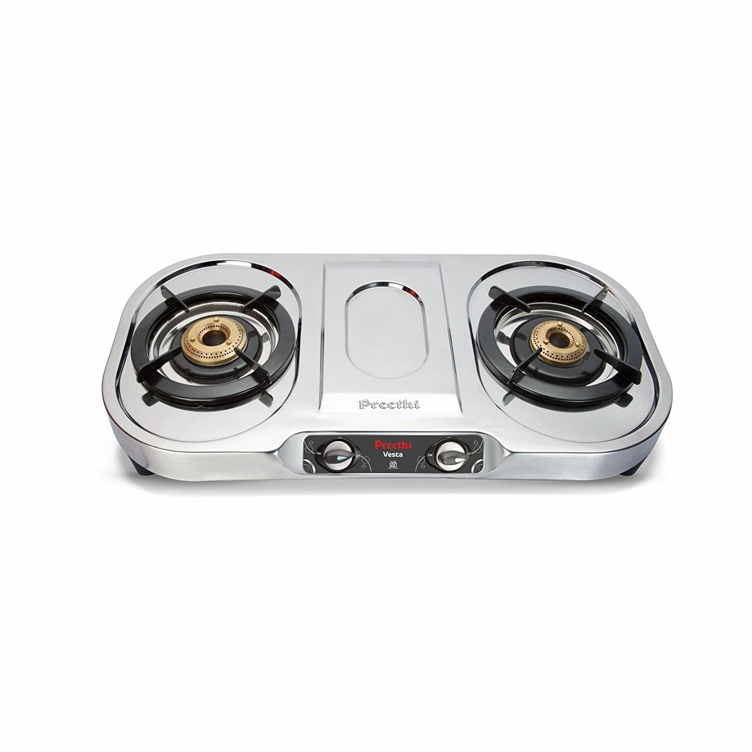 Preethi Vesta Stainless Steel 2-Burner Gas Stove get best offers deals free and coupons online at buythevalue.in